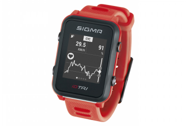 Image of Montre gps sigma id tri rouge
