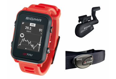 Montre gps sigma id tri set rouge