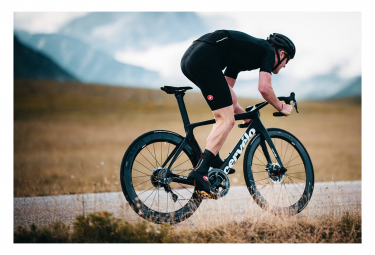 Bicicleta de Carretera Cervélo S5 Disco Shimano Dura Ace Di2 9170 11V Negro/Azul 2020