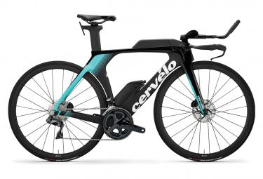 Bicicleta de Triatlón Cervélo P5 Disco Shimano Ultegra Di2 8050 11V Negro/Azul 2020