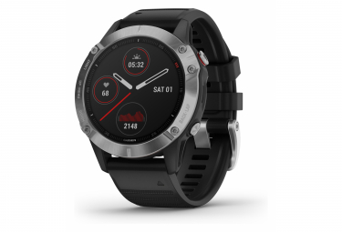Garmin fenix 6 GPS Watch Silver with Black Band