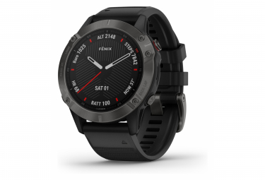 Garmin fenix 6 Sapphire GPS Watch Carbon Grey DLC with Black Band