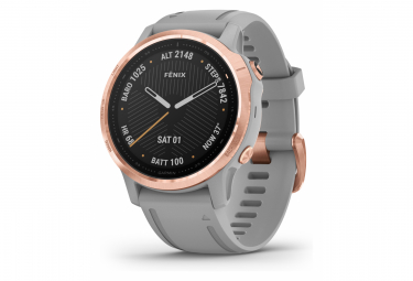 Garmin fenix 6S Sapphire GPS Watch Rose Gold-tone with Powder Grey Band