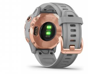 Garmin fenix 6S Sapphire GPS Watch Rose Gold-tone with Powder Grey Band