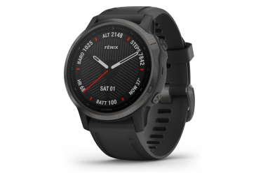 Garmin fenix 6S Sapphire GPS Watch Carbon Grey DLC with Black Band