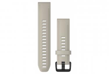 Image of Bracelet silicone garmin quickfit 20 mm beige clair