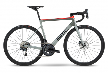 BMC Teammachine SLR01 Disc Four Bicicleta de carretera Shimano Ultegra Di2 11S Airforce Grey Super Red 2020