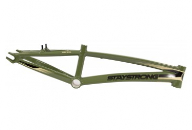Image of Cadre bmx race stay strong for life v2 cruiser army green cruiser