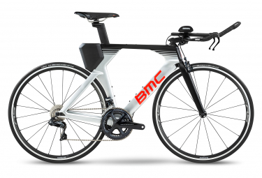 Vélo de Triathlon BMC Timemachine 02 One Shimano Ultegra Di2 11V 2020 Argent / Noir