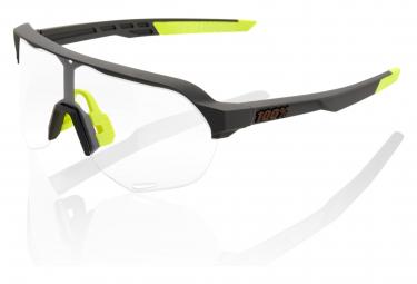 Gafas 100% S2 Soft Tact black clear Photochromic
