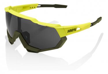 100% SpeedTrap Soft Tact Banana / Black Mirror Goggles