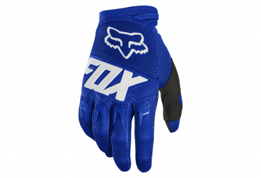 Gants Longs Fox Dirtpaw Race Bleu