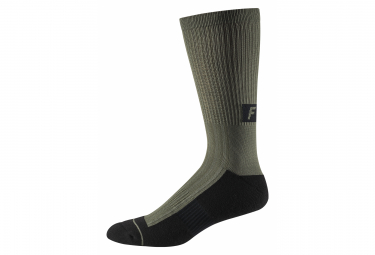 Fox 8 Trail Green / Olive Mid Socks