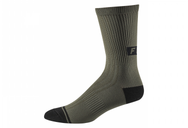 Fox 8 Trail Green Mid Socks Olive Green