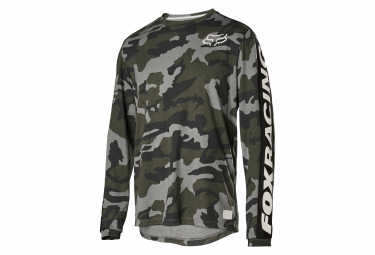 Fox Ranger DR Green / Camo Long Sleeve Jersey