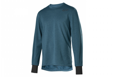 Fox Ranger Thermo Blue Long Sleeve Jersey