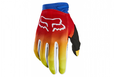 Fox Dirtpaw Fyce Kid's Long Blue / Red Gloves