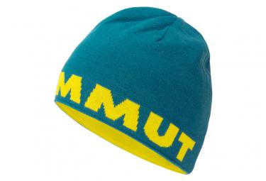 Mammut Logo Beanie Blue Yellow Unisex