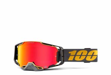 Máscara 100% Armega Falcon 5 black red Miroir