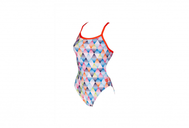 Arena Linear Triangle Challenge Back Women's Swimsuit Multicolor