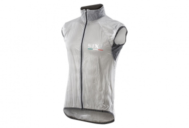 Image of Gilet coupe vent sixs ghost transparent noir m