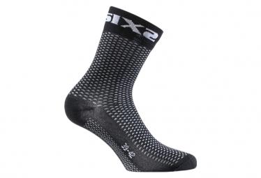 Chaussettes Mi-Hautes Sixs Short Logo Noir / Carbon