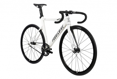 Image of Fixie fabricbike aero fourche carbone glossy white black 58 cm 178 188 cm