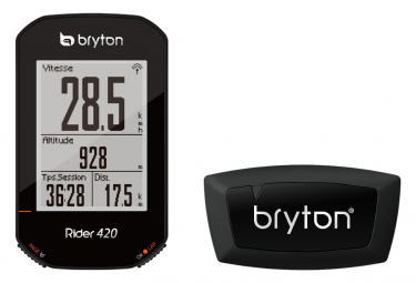 BRYTON Compteur GPS RIDER 420H + Heart sensor