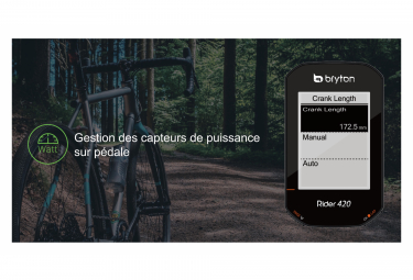BRYTON Compteur GPS Rider 420T + Ceinture Cardio/Capteur Cadence