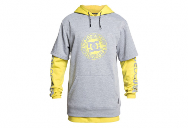 Sudadera con capucha DC Shoes Double Thickness Dryden Warm Olive / Grey / Yellow
