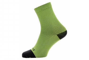 Gore Wear C3 Dot Mid Socks Neon Yellow Black 41 43