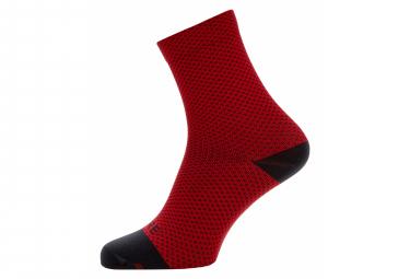 Gore Wear C3 Dot Mid Socks Red Black 44 46