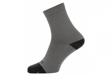 Paire de Chaussettes GORE Wear C3 Dot graphite Gris Noir