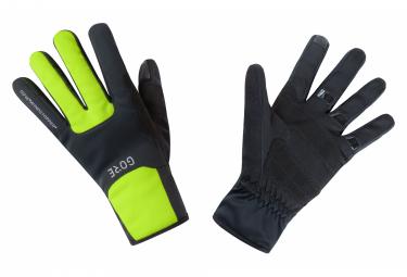GORE Wear M Windstopper Wear Thermo Gloves black neon yellow