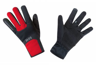 GORE Wear M Windstopper Wear Thermo Gloves black red