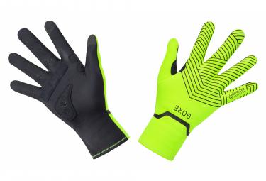 GORE Wear C3 Gore-Tex Infinium Stretch Mid Gloves neon yellow black