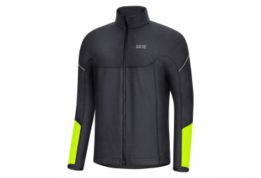 GORE Wear M Thermo Long Sleeve Zip Shirt black neon yellow