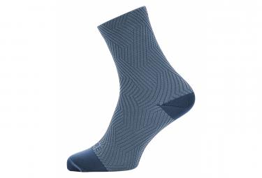 GORE Wear C3 Mid Socks deep water blue cloudy blue