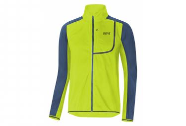 GORE Wear C3 Windstopper Wear Jacket citrus green deep water blue