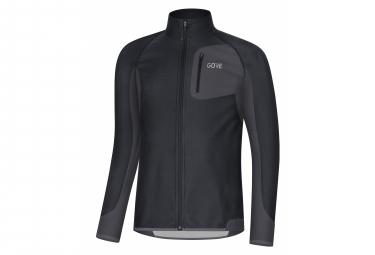 Veste Coupe-vent GORE Wear R3 Partial WINDSTOPPER Noir Gris