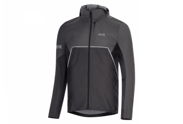 Veste imperméable GORE Wear R7 Partial Gore-Tex INFINIUM Hooded Noir Gris