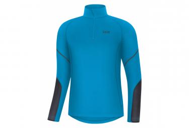 GORE Wear M Mid Long Sleeve Zip Shirt dynamic cyan black