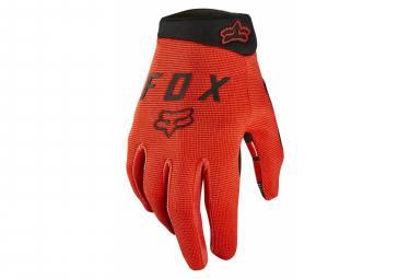 Long Fox Ranger Kids Gloves Orange