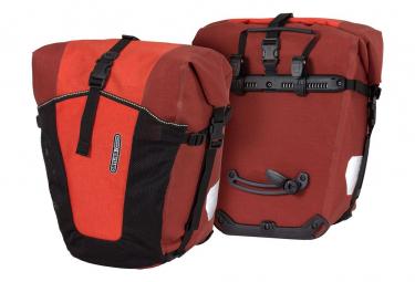 Ortlieb Back Roller Pro Plus 70L Pair of Bike Bags Signal Red Dark Chili