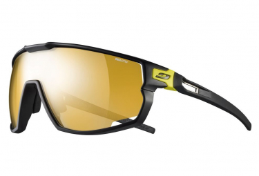 Pair of Julbo Rush Reactiv Photochromic Goggles Black / Yellow