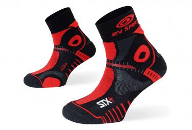Paire de Chaussettes BV Sport STX+ Evo Noir Rouge