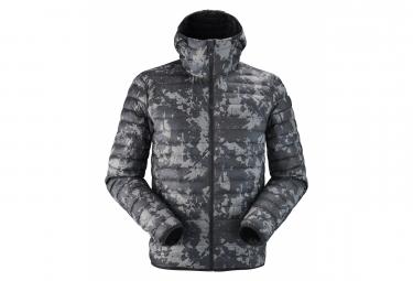 Image of Doudoune eider venosc hoodie noir camo homme m