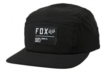 Casquette Fox Stop 5 Panel Noir / Blanc