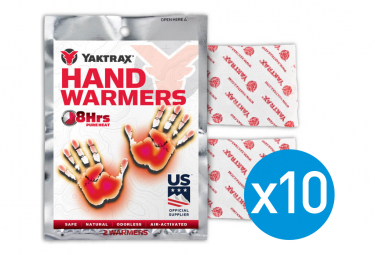 Lot de 10 Paquets de Chaufferettes pour Mains Yaktrax Hand Warmers 8 Heures