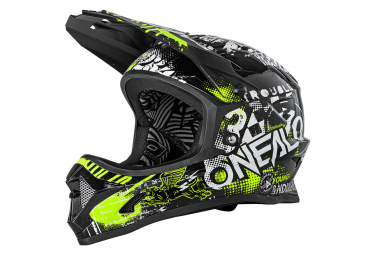 Int gral helmet child O'Neal Backflip Attack Black / Fluo Yellow